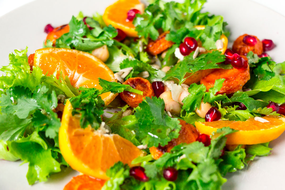 Make Winter Healthy carrot chickpeas mandarin salad