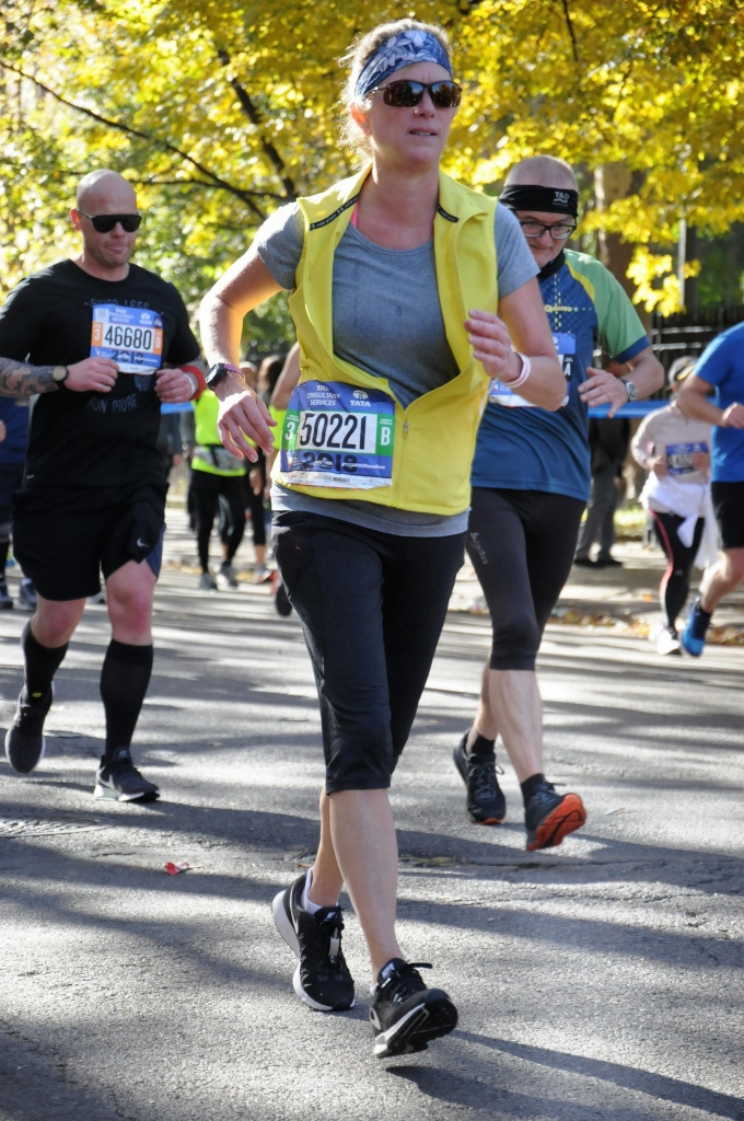 Julie Patterson in the New York City Marathon