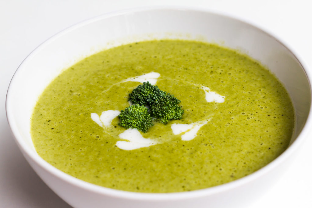 Delicious Winter Inspiration - a bowl of healthy green soup