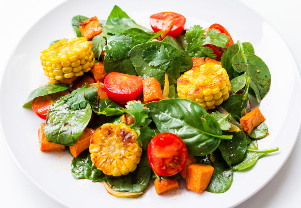 Delicious Winter Inspiration - a full plate of healthy colorful salad