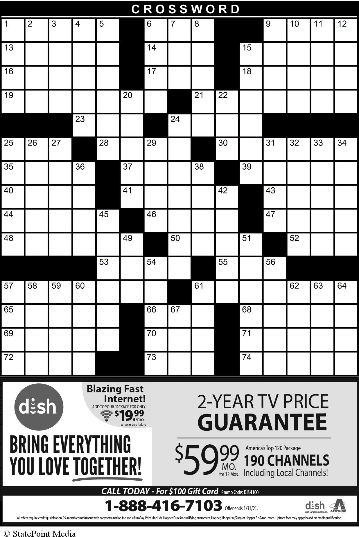 LifeStyle Indy's Crossword Puzzle