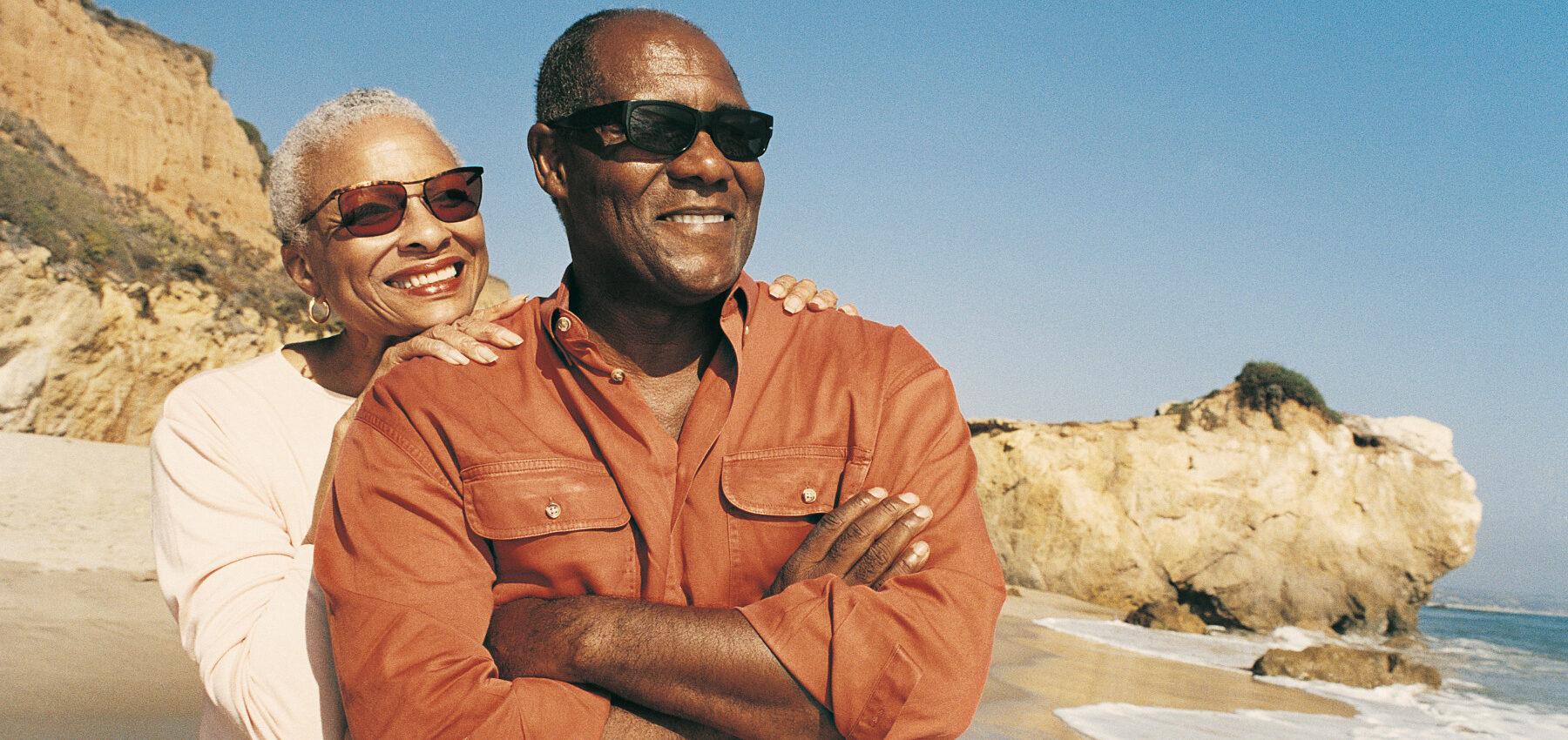 Man & Woman enjoying free time at the beach.